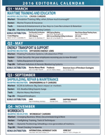 Maritime Professional Editorial Calendar
